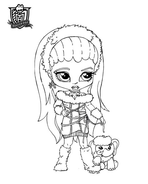 monster high coloring pages baby abbey bominable baby abbey by jadedragonne on deviantart