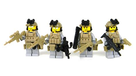 Lego Speciall Forces ranger squad 4 us army special forces soldiers sku41