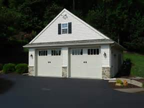 2 Car Detached Garage by Custom Two Car Garage With Attic Traditional Garage