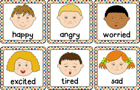 faces of emotion printable emotions cards helps to understand and describe different