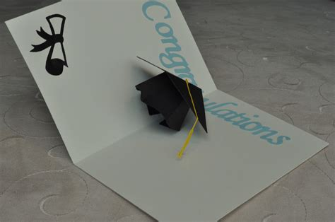 Graduation Pop Up Card Template 3d graduation cap pop up card template