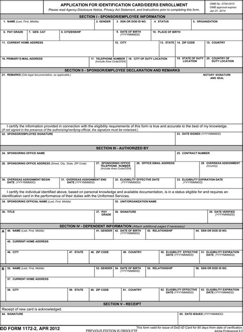 dd template dd form 1172 free premium templates forms