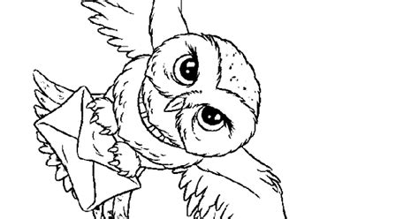 harry potter coloring book owl post free coloring pages harry potter owl