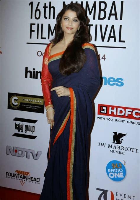 blue film festival india aishwarya rai photos at film festival in blue saree