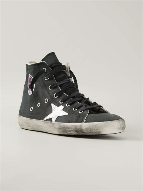 golden goose high top sneakers golden goose deluxe brand francy hi top sneakers in