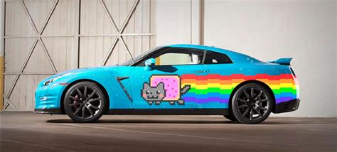 Kat Auto by Nissan And Deadmau5 Troll Ferrari With Nyan Cat Gt R