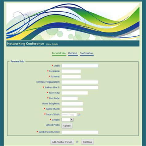 sample registration forms create a registration form