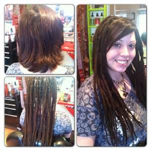 pre dreaded hair extensions before after human hair dreadlock extensions dollylocks