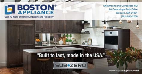 kitchen appliances made in usa sub zero refrigerators built to last and made in the usa