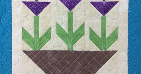 Tulip Quilt Pattern Block by The Free Motion Quilting Project New Tulip Quilt