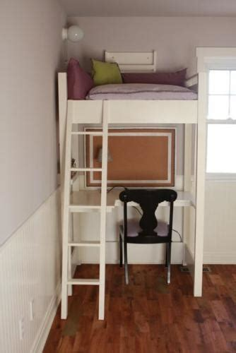 ana white kid sized reading loft  desk diy projects