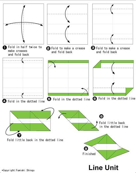 Origami Lines - origami line dipyramid easy origami