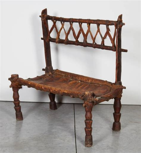 rustic leather bench rustic antique wood and leather bench with great patina
