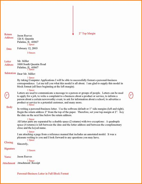 Pdf Business Letter Block Style 6 Letter Format Block Ledger Paper