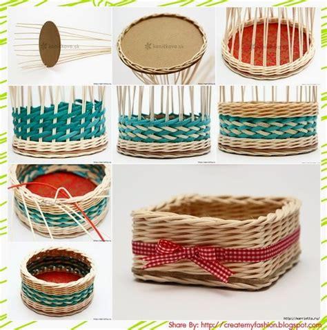 How To Make A Paper Weave Basket - diy สร างแฟช นของต วเองง ายๆ