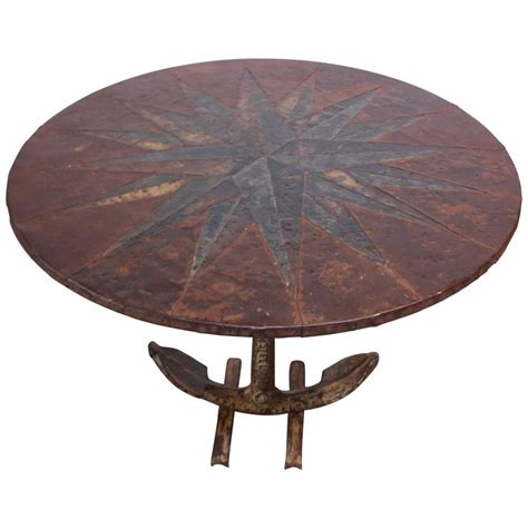 Nautical Dining Tables Mid 20th Century Mixed Metal Nautical Anchor Dining Table For Sale At 1stdibs