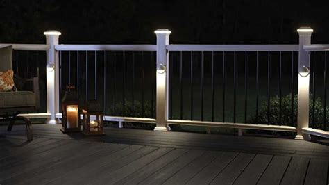 rail deck lighting 25 best ideas about deck lighting on patio
