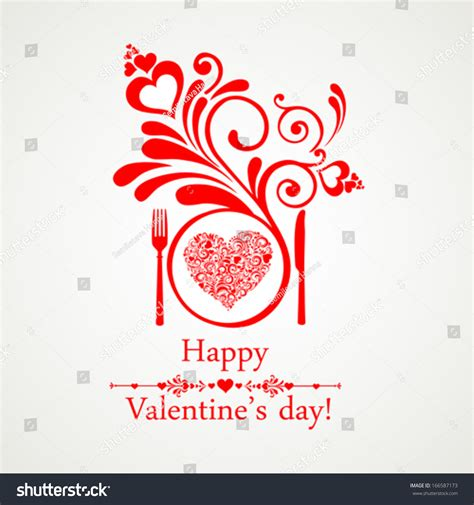 s day restaurant happy valentines day restaurant menu card stock vector