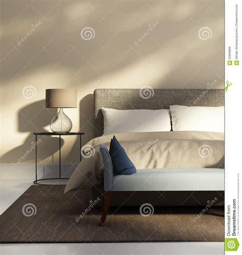 banc pour chambre à coucher chambre 224 coucher beige avec un banc photo stock image