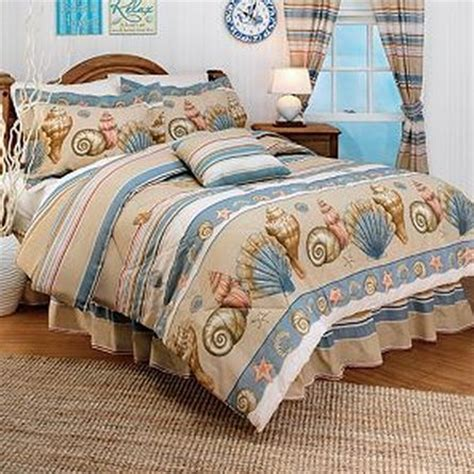 Seashell Comforter Sets by Tropical Nautical Sea Shell Seashell Stripe