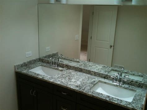 double bathroom sink countertop newly finished master bath chocolate double vanity with