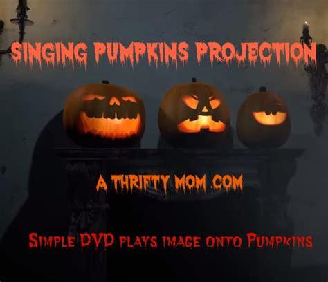 singing pumpkins singing pumpkins dvd projection onto pumpkins