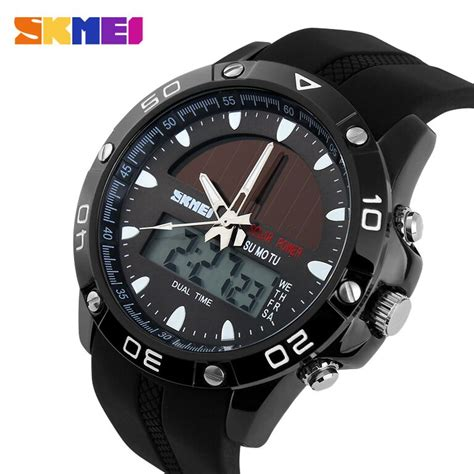 Jam Arloji Skmei Solar Power jam sport pria skmei analog digital solar power ad1064e