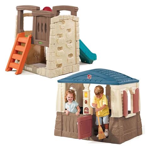 step 2 swing and slide combo backyard basics combo outdoor play by step2