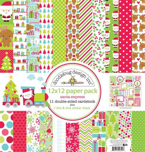 doodlebug scrapbooking doodlebug design santa express collection