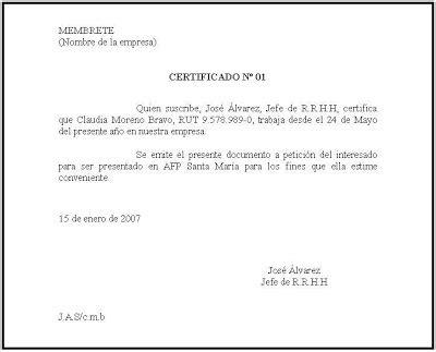 formato de un certificado q u e e n r a i formato certificado