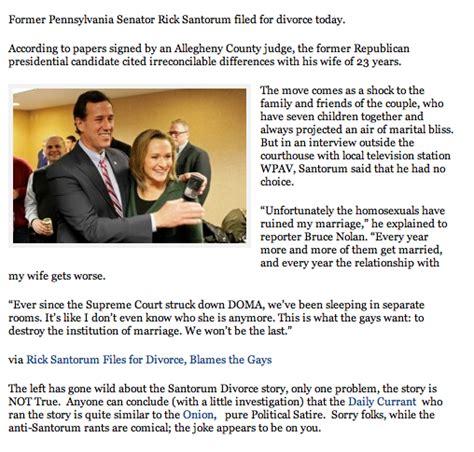 Files For Divorce 2 by Retired In Delaware Rick Santorum Files For Divorce