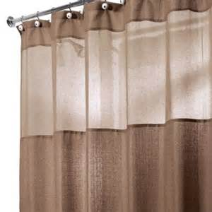 brown neutral colored shower curtain bathroom