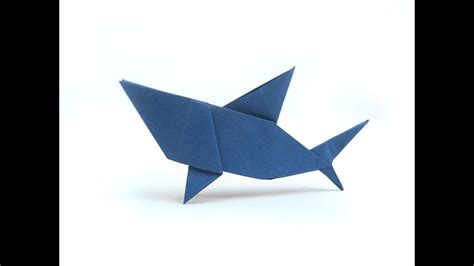 How To Make A Origami Shark Easy - easy origami shark origami easy tutorial how to make