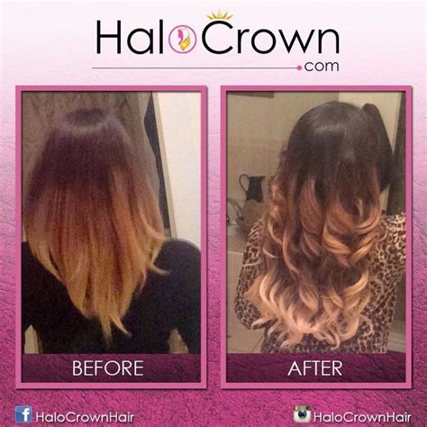 buy head crown extensions ombre halo crown hair extensions buy yours here https