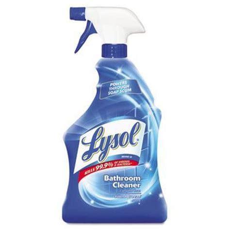 lysol power bathroom cleaner soap scum shine  oz spray bottles case