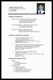 experience on a resume template resume builder - Resume Sles For College Students