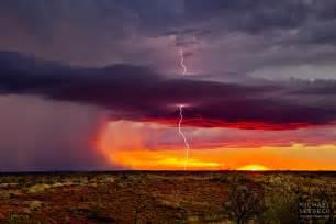 Lightning Strike Hits Car Australia Sunset Strike Lawk0002 A Landscape Photograph Of A