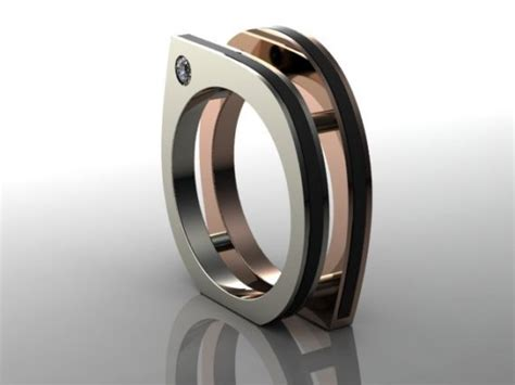 infinite square unique mens engagement ring unique