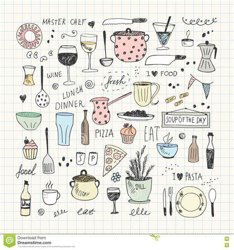 doodle how to make tools kitchen tools doodle set vector illustration