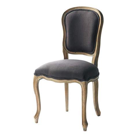 chaise en et orme massif taupe gris 233 versailles