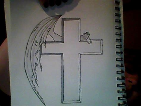 cross with halo tattoo cross with tattered wing and halo by darc kaze the