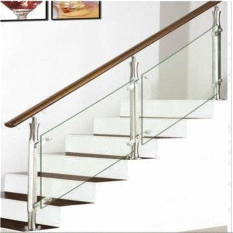 Contemporary Banisters Stainless Steel Staircase Wooden Stairway Glass Staircase