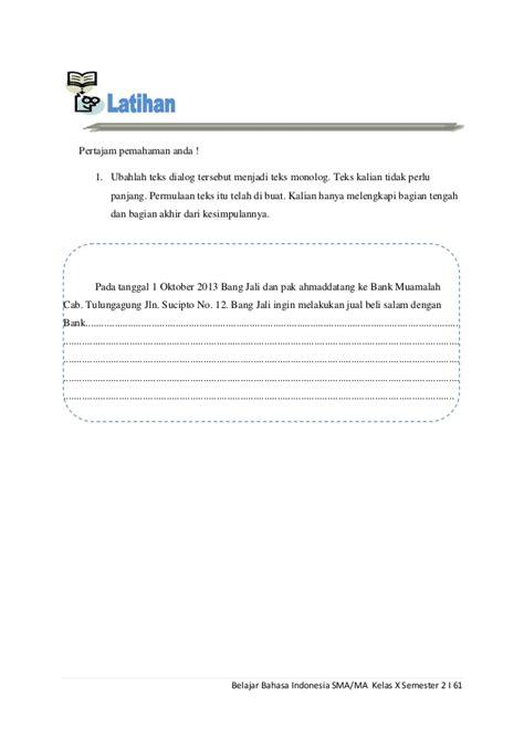 membuat teks anekdot monolog belajar bahasa indonesia kelas x semester 2