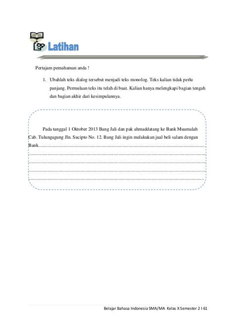 buat teks prosedur kompleks belajar bahasa indonesia kelas x semester 2
