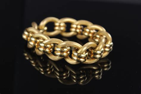 Classe Bracelet Italy Designed vintage italian gold bracelet designer goldsmith