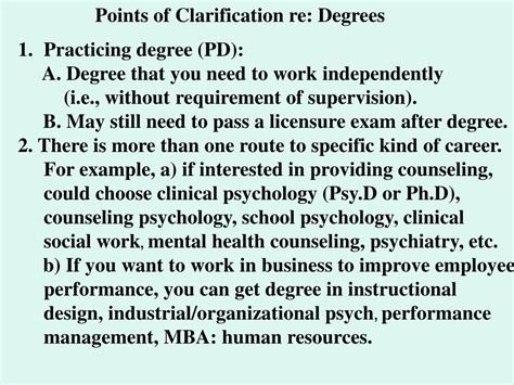Can You Do An Mba Without A Degree by Ppt Choosing A Career In Psychology Or Related Fields