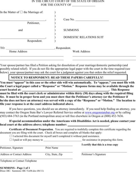 Oregon Divorce Records Free Oregon Divorce Papers For Free Formtemplate
