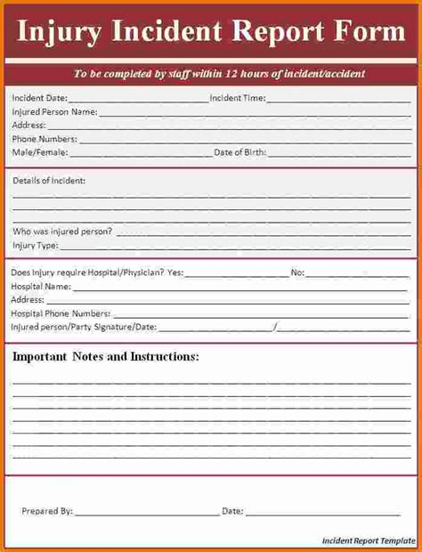 employee incident report template 7 employee incident report template expense report