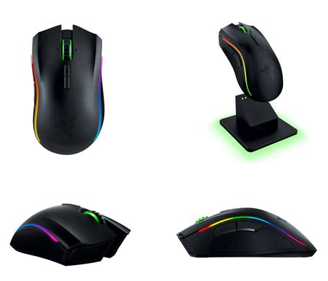 Mouse Razer Mamba Chroma razer mamba chroma rgb wireless laser gaming mouse rz01 01360100 pc gear