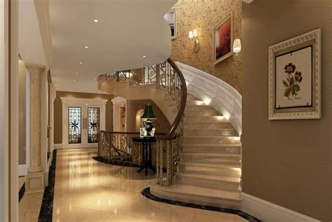 home design 3d gold stairs 3d european luxury villa interior hallway and stairs